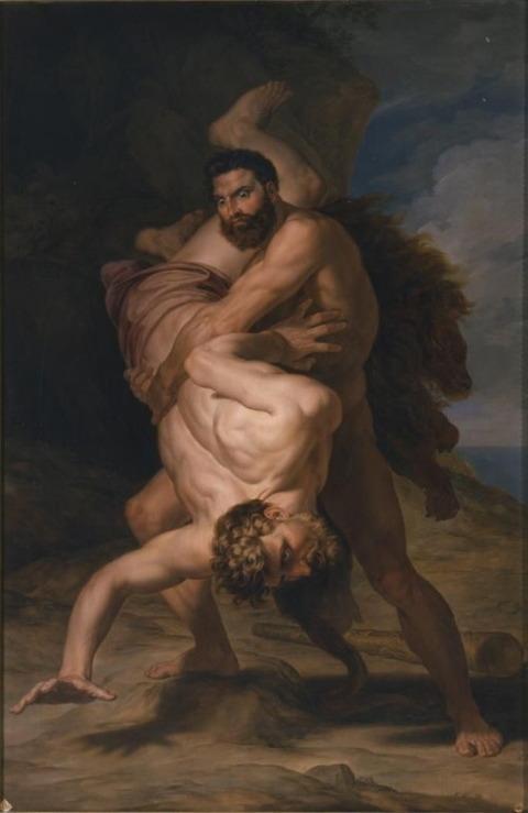 Rafael Tajeo  Hercules and Antaeus, 1828