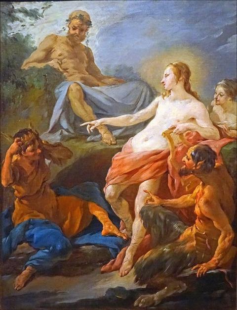 Apollon et Midas Oeuvre de Noël Hallé 1750