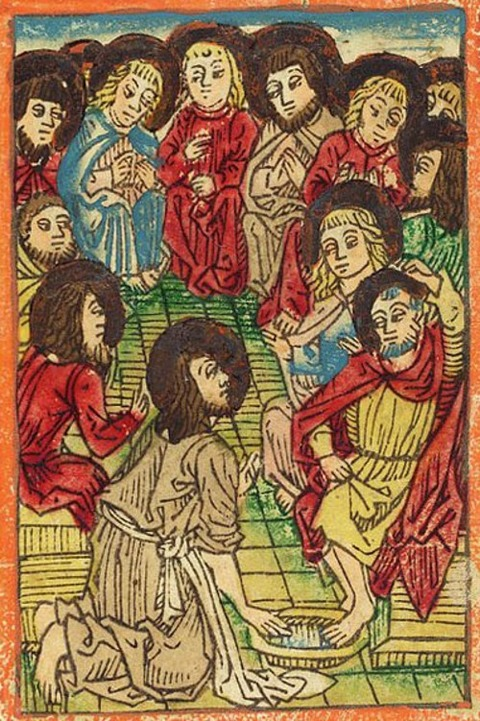 German 15th Century, Christ Washing The Apostles Feet