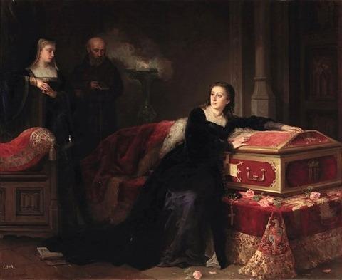 La reina Doña Juana la Loca Gabriel Maureta Aracil 1858