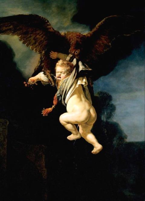 Rembrandt  van Rijn Abduction of Ganymede 1635