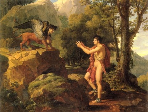 Oedipus and the Sphinx by Francois Xavier Fabre