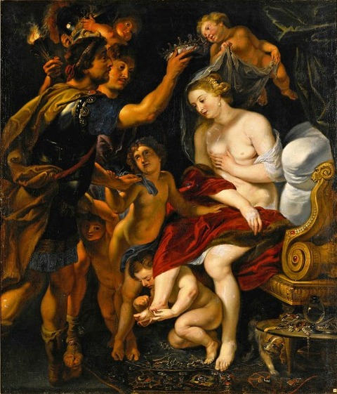 Alexander And Roxana by Studio of Peter Paul Rubens