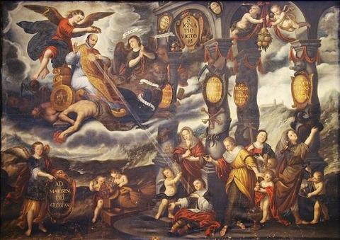 Apoteosis de San ignacio de Loyola, 1675  Diego Díez Ferreras