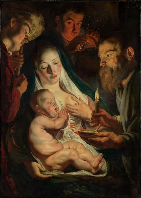 The Holy Family with Shepherds,1616  Jacob Jordaens