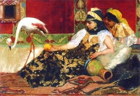 Jean-Joseph Benjamin-Constant, Le Flamant rose, 1876