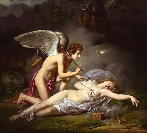 Michel Philibert Genod - Amour and Psyche, 1827