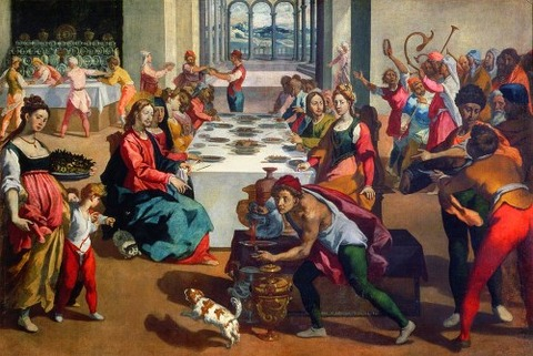 Wedding at Cana, 1580-85  Boscoli, Andrea