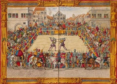 Representación juicio combate Augsburgo Paulus Hector Mair 1544