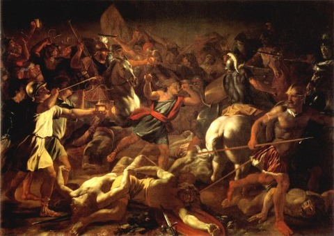 Against the Midianites 1625 -26  Nicolas Poussin