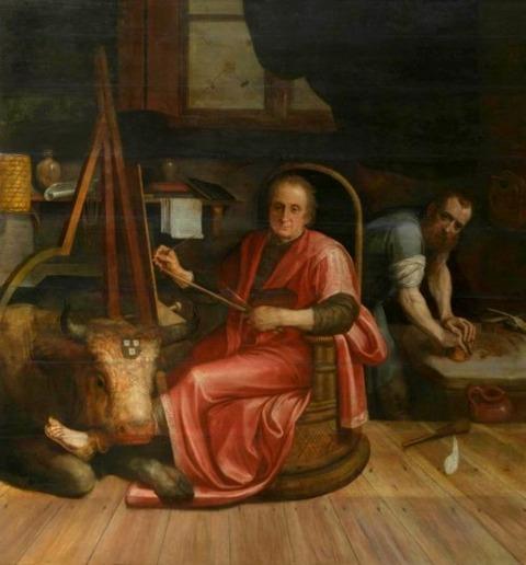 Frans Floris  Rijckaert Aertsz as Saint Luke 1560