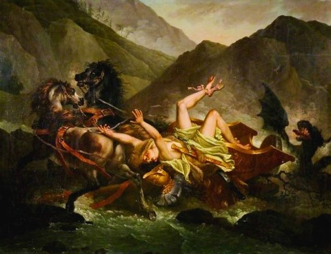 The Death of Hippolytus by Carle Vernet (1758-1836)