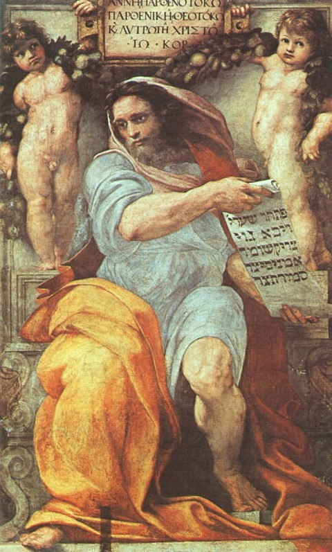Raphael  The Prophet Isaiah fresco  1511-12