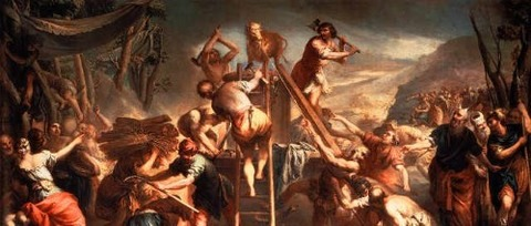 Moses Destroying the Golden Calf by Andrea Celesti -