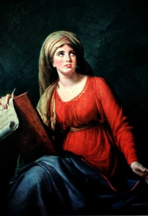 Vigee Le Brun Lady Hamilton as the Persian Sibyl - 1792