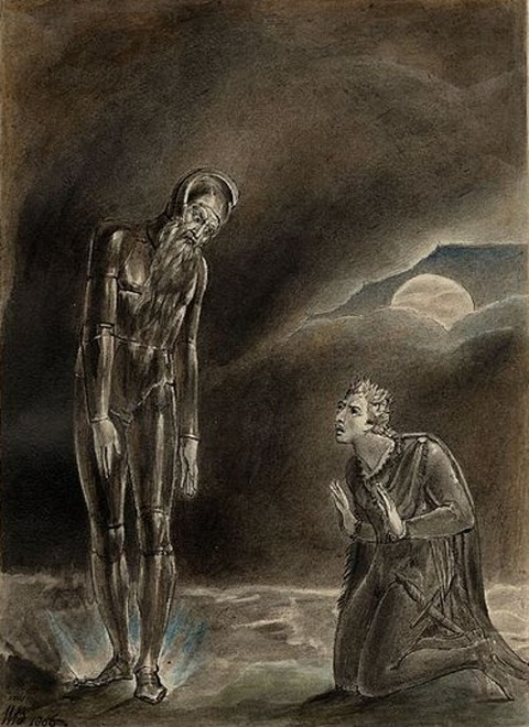 William Blake Hamlet and his Father's Ghost 1806