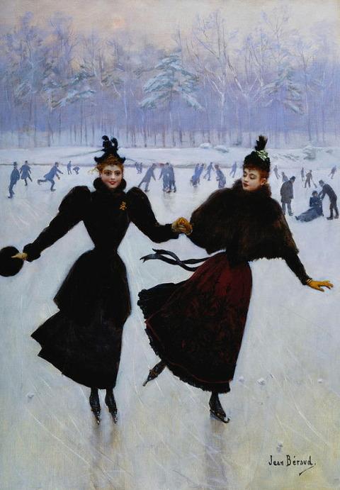 The Skaters Les Patineuses  Beraud, Jean 1849-1935