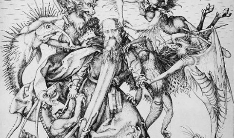 Martin Schongauer Temptation Of St Anthony2