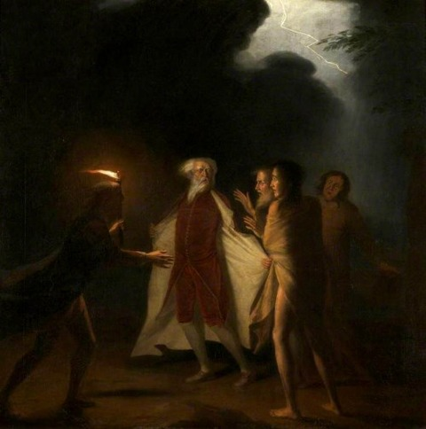 George Romney  King Lear in Tempest 1761