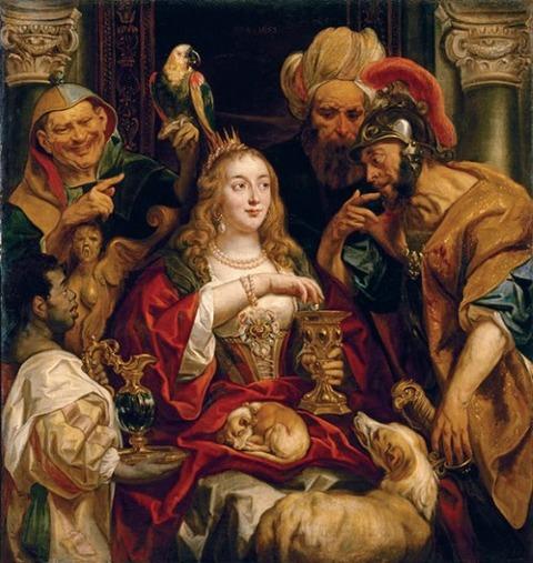 ヤーコプ・ヨルダーンス《クレオパトラの饗宴》
