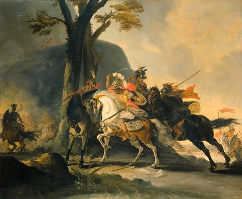 The Battle Against The Persians At The Granicus  Cornelis Troost