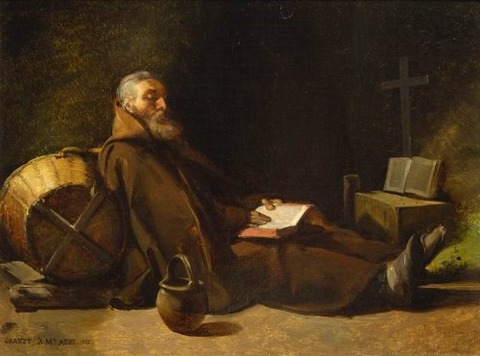 Hermit reading François Marius Granet1831