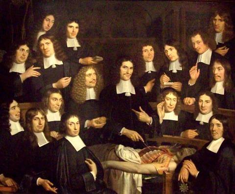 The Anatomy Lesson of Cornelis 's-Gravesande by Cornelis de Man