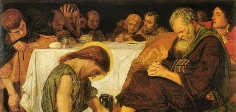 Jesus Washing Peter's Feet by Ford Madox Brown -
