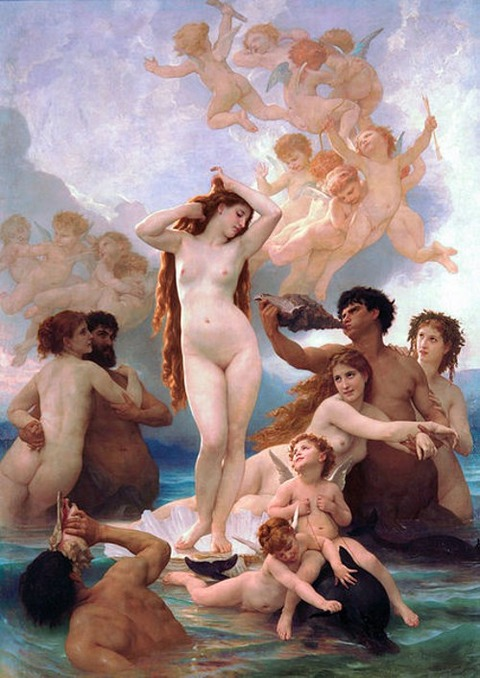 - William Bouguereau Birth of Venus 1879
