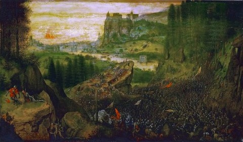 Pieter Bruegel the Elder - The Suicide of Saul 1562