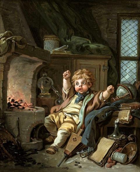 フランソワ・ブーシェ  若い錬金術師 1769