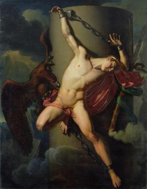 The Torture of Prometheus, by Jean-Louis-Cesar Lair (1819)