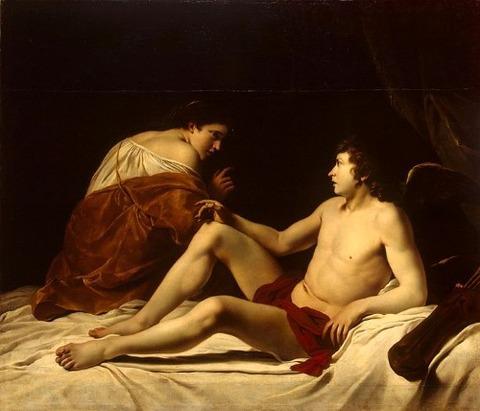 Orazio Gentileschi - Cupid and Psyche 1610