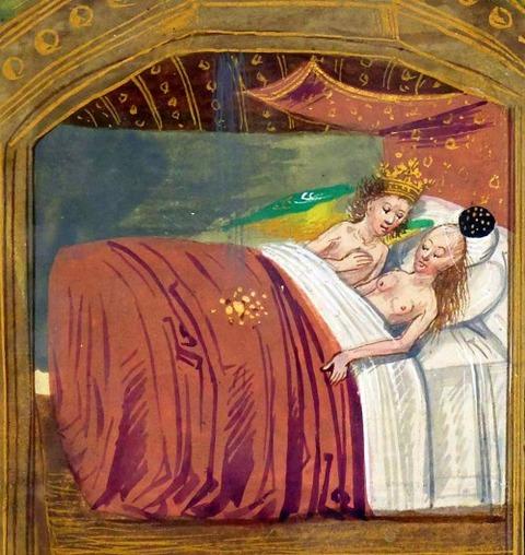 Ovide moralisé en prose, Bruges 1470-80 Jupiter and Danaë