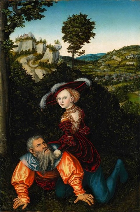 phyllis and aristotle by lucas cranach the elder