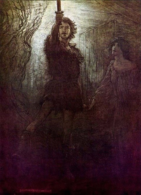 A depiction of Sigmund by Arthur Rackham 1910