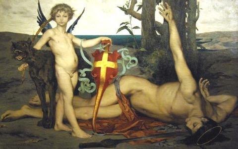 st edmund martyr king england Luc-Olivier Merson
