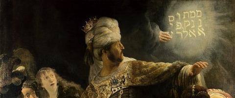Belshazzar's Feast Rembrandt 1635-38 -