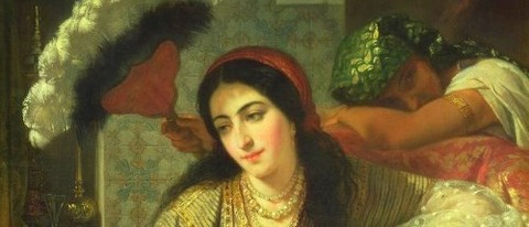 Odalisque by Jean Baptiste Ange Tissier - コピー