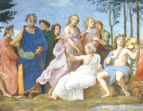 Rafael - El Parnaso (Estancia del Sello, Roma, 1511)