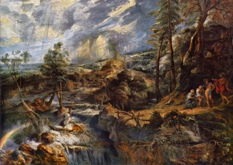 Stormy Landscape with Philemon and Baucis, 1620 by Rubens