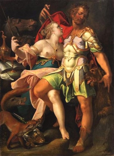 Odysseus and Circe by Bartholomaeus Spranger