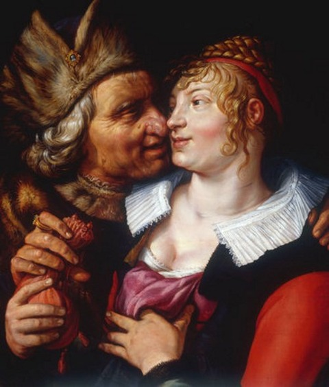 H.Goltzius, The Ill-Matched Couple