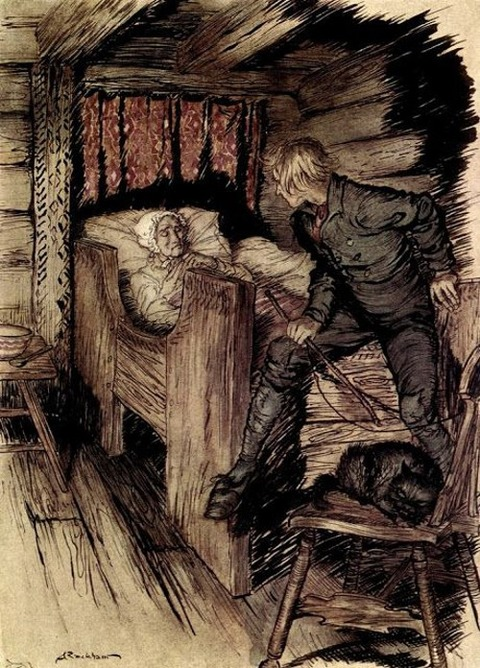 Arthur Rackham- Peer Gynt -The death of Aase