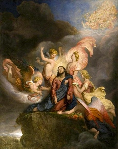 The Angels Ministering to Christ 1849