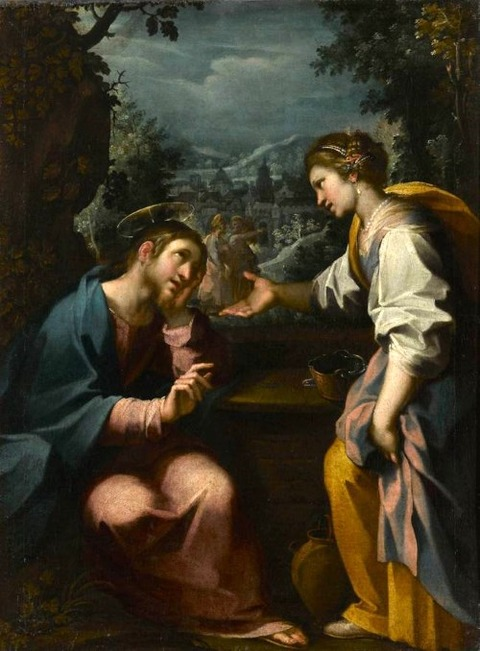 Jésus et la Samaritaine by Rutilio di Lorenzo Manetti