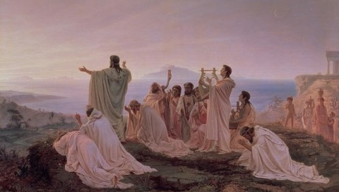 Pythagoreans' Hymn To The Rising Sun Fedor Andreevich Bronnikov