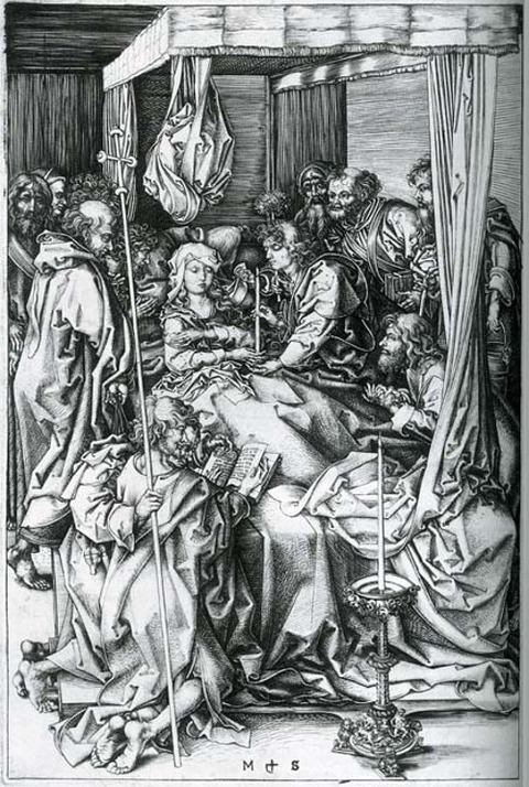 Martin Schongauer, The Death of the Virgin    1470