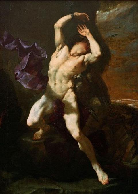 Prometheus, by Luca Giordano (1650-60)