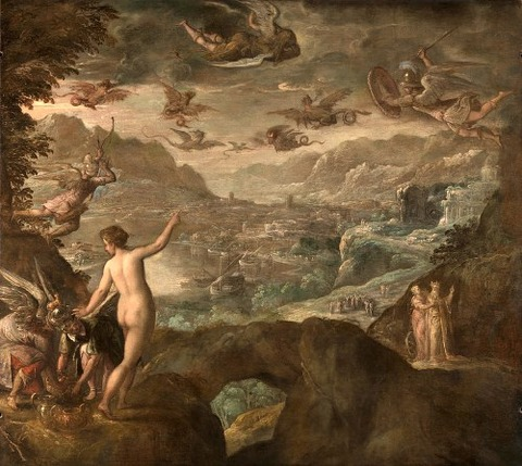 Landscape With The Expulsion Of The Harpies by Paolo Fiammingo